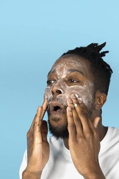gommage du visage homme maison