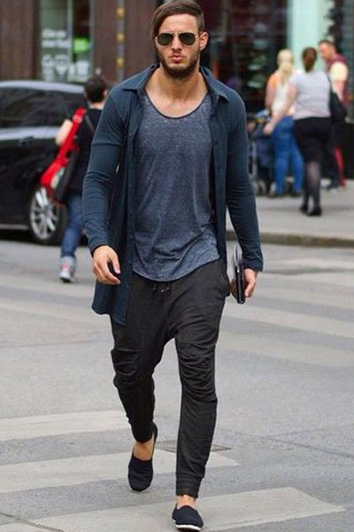 look sportswear homme espadrille et joggpant
