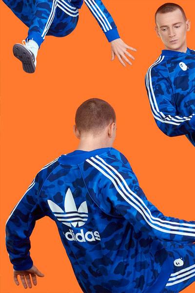 BAPE x adidas bleu