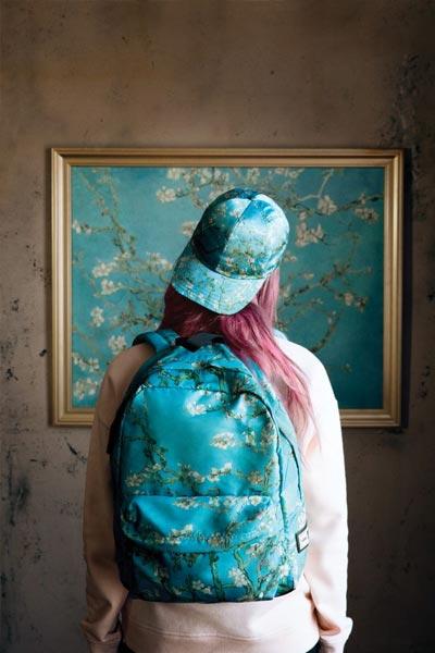 Amandier en fleurs, Vans x Van Gogh sac et casquette