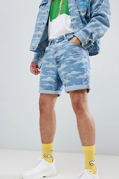 Asos x The Simpson short homme