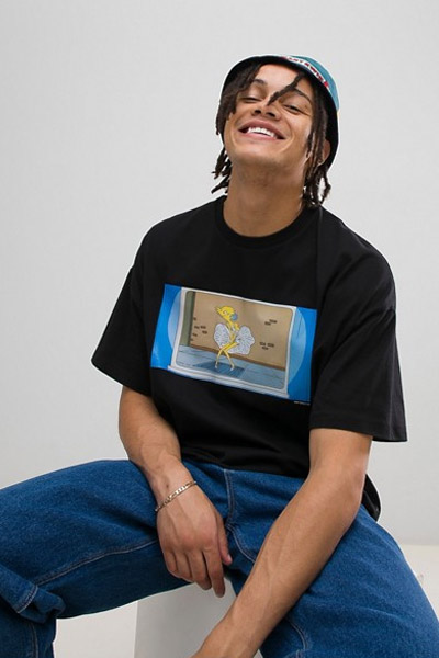 Asos x The Simpson t-shirt homme Mr Bruns