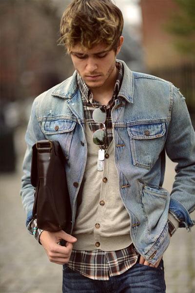 Veste en jean homme pour s'habiller en automne