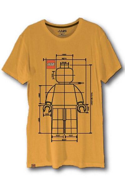 tshirt jaune jules x lego