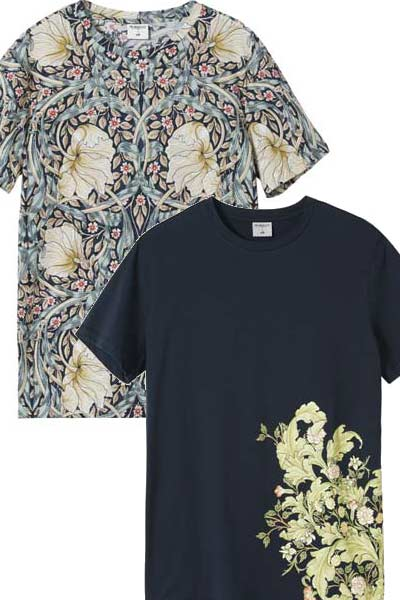 tee-shirt H&M x Morris & Co