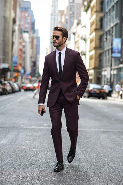 costume bordeaux homme chaussure richelieu