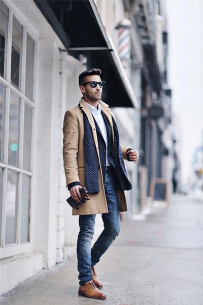 choisir un manteau homme, pardessus camel, manteaux formels homme