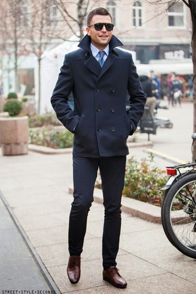 look habillé caban homme