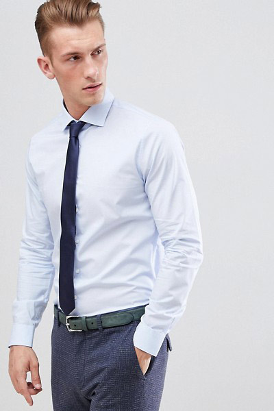 chemise ajustée homme