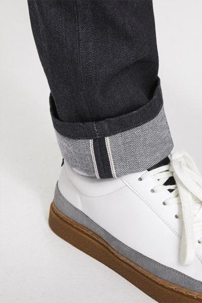 liseré coloré des jeans selvedge