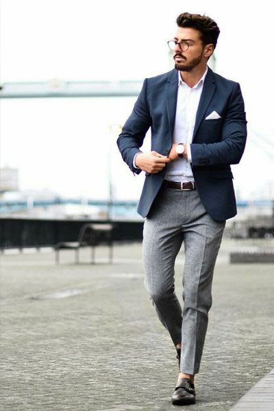blazer bleu marine homme