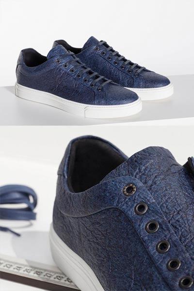 Sneaker vegan hugo boss bleu marine