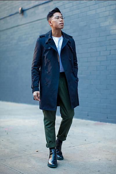 trench coat homme s'habiller pour le printemps