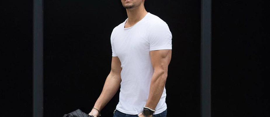 look homme t-shirt blanc