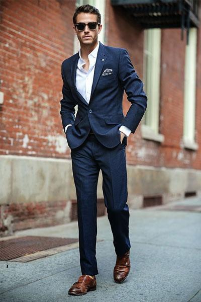 costume bleu marine homme