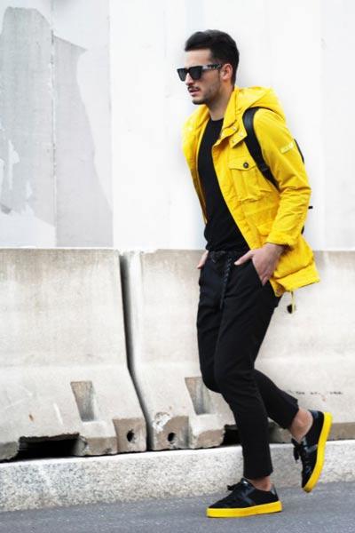 look homme ciré jaune