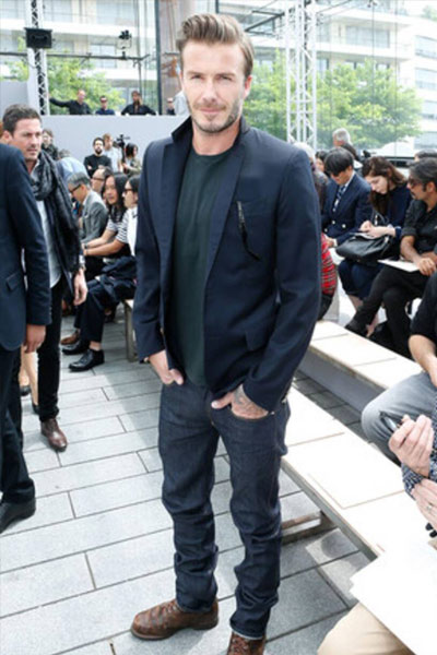 david beckame tenue casual chic