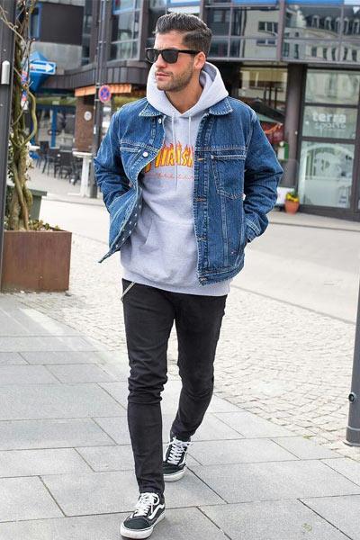 style sportswear homme veste en jean