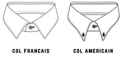 col français et col américain
