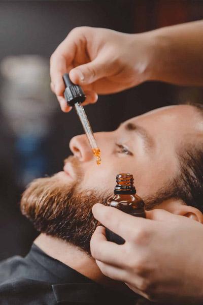 huile de ricin pour une belle barbe courte
