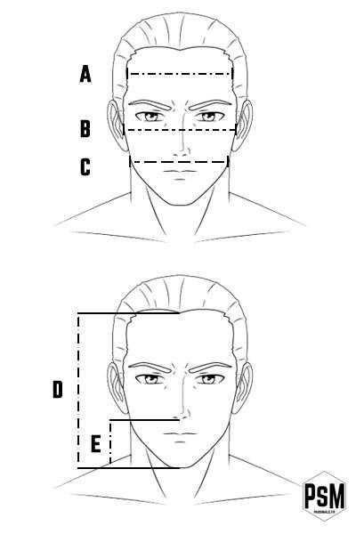 mesure morphologie visage homme