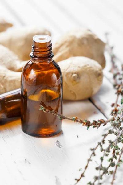 aromathérapie huile de gingembre