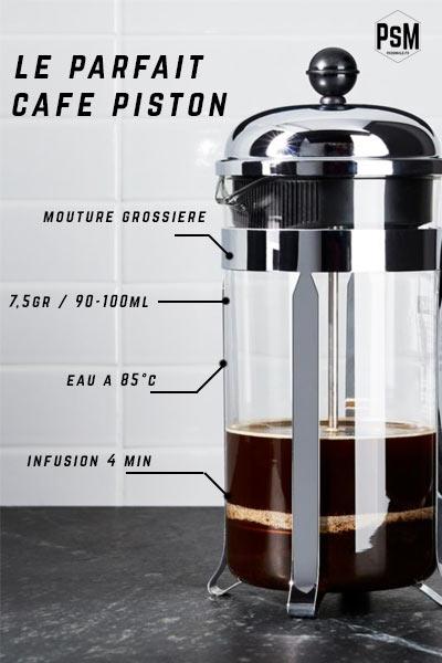 faire un café avec une cafetière piston
