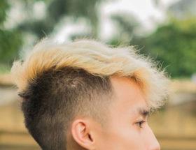teinture blonde homme