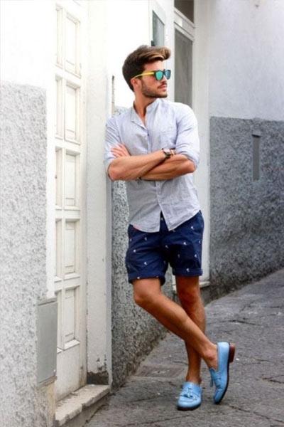 tenue casual avec des mocassins