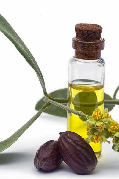 flacon d'huile de jojoba