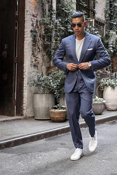 tenue homme mariage basket