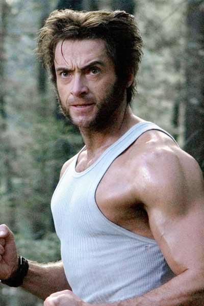 wolverine, barbe sans moustache