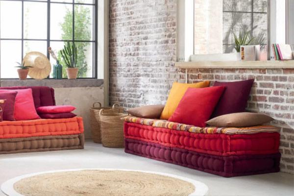canapé coloré style ethnique maison du monde
