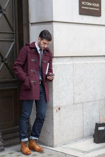 duffle coat casual chic