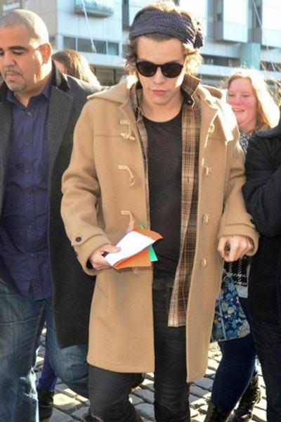 duffle coat beige homme