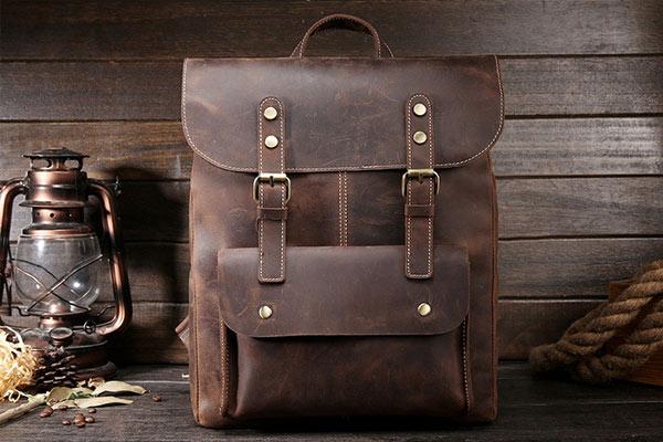 idées de cadeaux de Noël pour hommes sac en cuir vintage