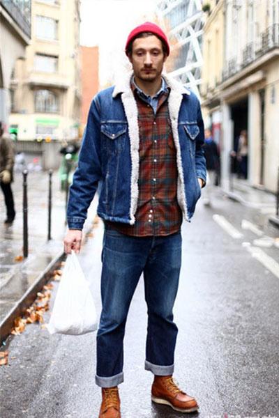 look workwear homme jean brut
