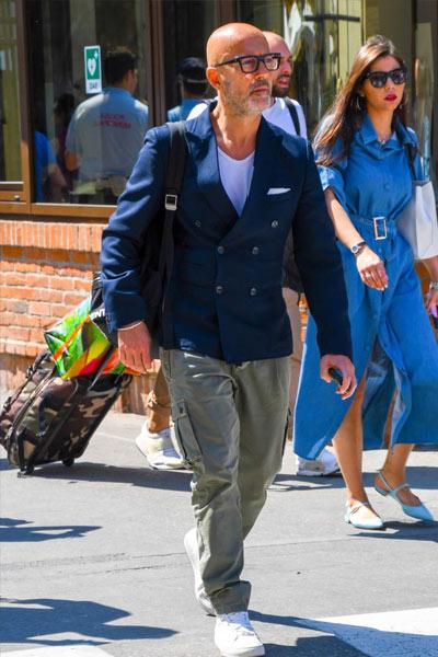 tenue casual homme veste croisée