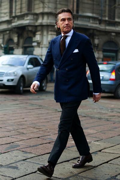costume croisé tenue classique homme