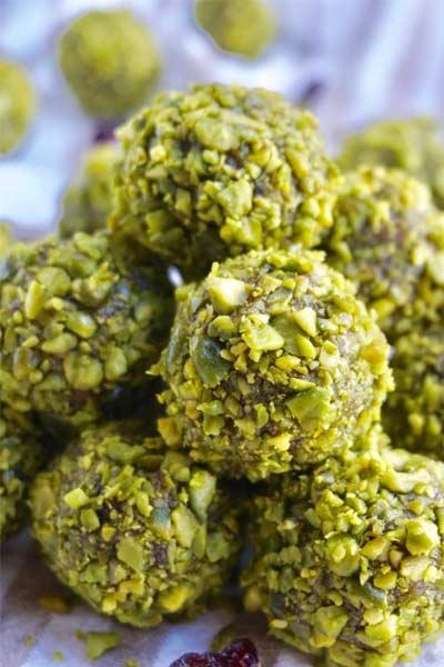 energy balls pistache