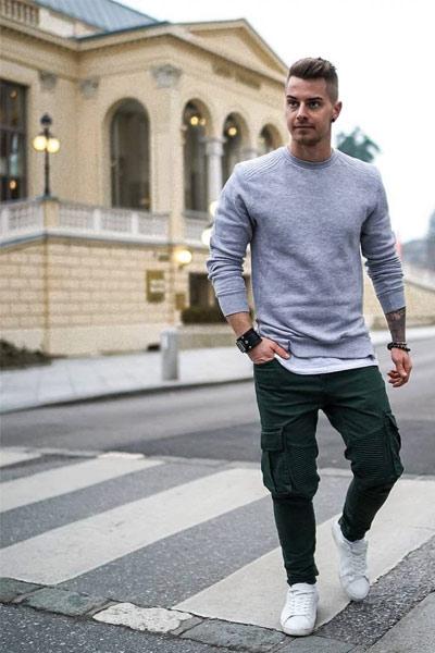 tenues sportswear homme cargo