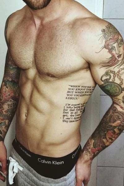 tatouage homme cote