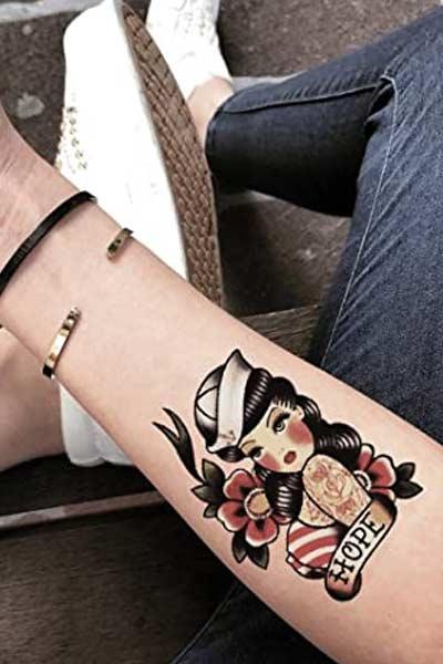 tatouage pin-up