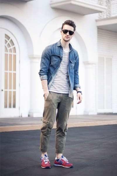 porter un pantalon cargo tenue casual homme