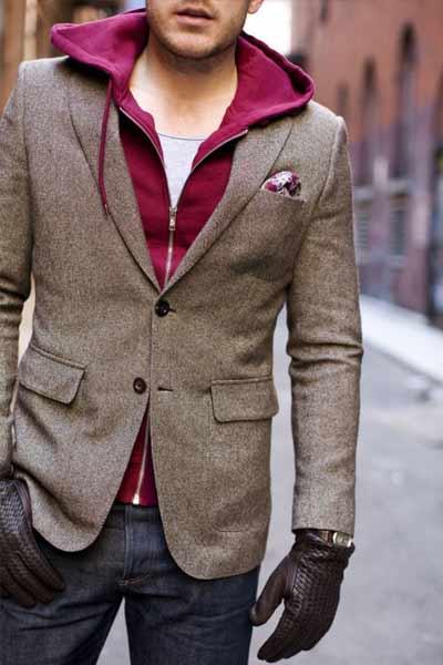 gants en cuir pour tenue casual