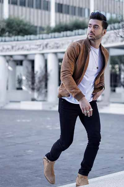 bomber look casual