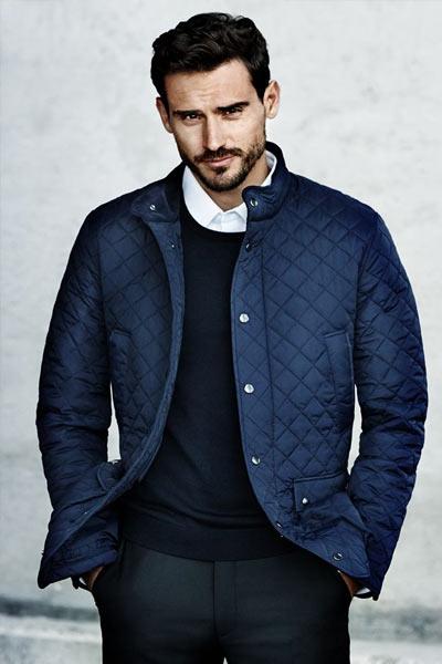 veste matelassée bleu marine