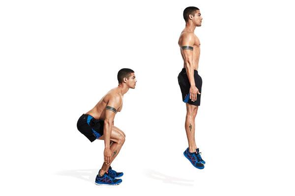 exercices pour perdre du poids squat sauté