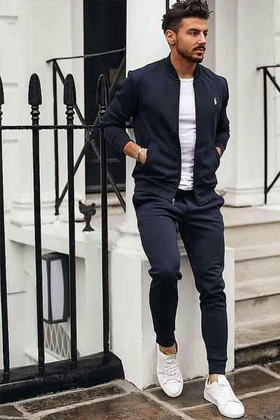 porter un bomber dans une tenue sportswear homme