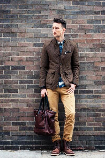 veste matelassée style casual